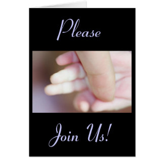 Celebration Of A Holy Baptism Baby Boy Fingers II Greeting Card