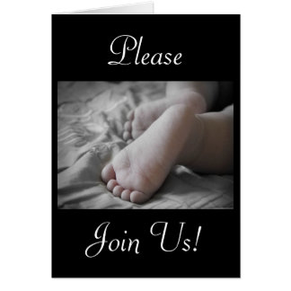 Celebration Of A Holy Baptism Baby Girl Feet Greeting Card