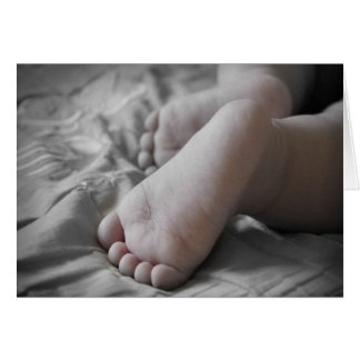 Celebration Of A Holy Baptism Baby Girl Feet III Greeting Card