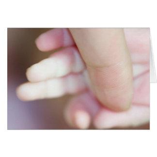 Celebration Of A Holy Baptism Baby Girl Fingers I Greeting Card