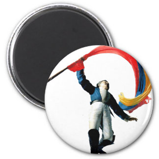 Celebration of colombian 3 STRETCHED.gif 6 Cm Round Magnet