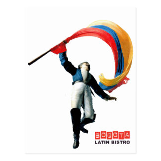 Celebration of colombian 3 STRETCHED gif Postcard