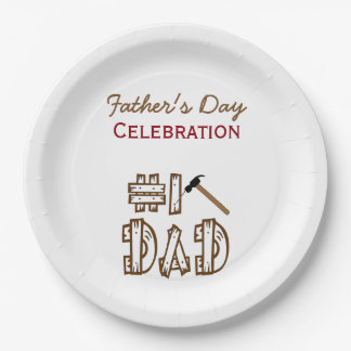 Celebration of Fatherhood BBQ Paper Plates 9 Inch Paper Plate