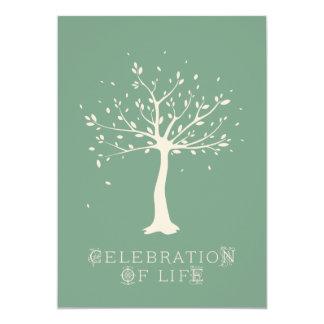 Celebration of Life - Custom - Elegant Tree Motif Card