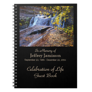 Celebration of Life Guest Book, Autumn Waterfall Notebooks