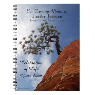Celebration of Life Guest Book Bonsai Tree in Zion