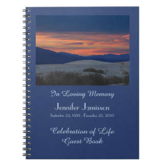 Celebration of Life Guest Book, Sunset at Dunes Notebooks