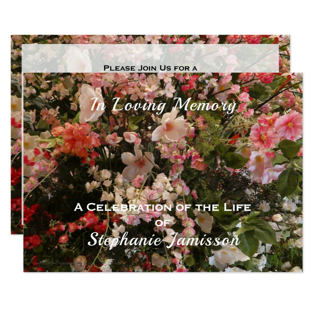 Celebration of Life Invitation Boho Chic Floral