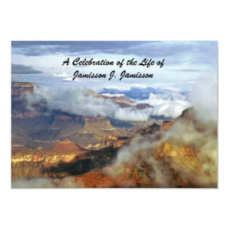 Celebration of Life Invitation, Canyon Clouds Card