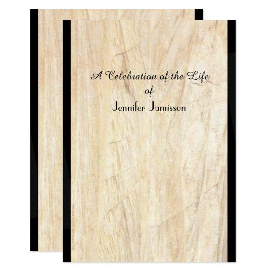 Celebration of Life Invitation, Faux Parchment Card