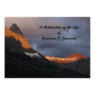 Celebration of Life Invitation, Glacier Sunrise 13 Cm X 18 Cm Invitation Card