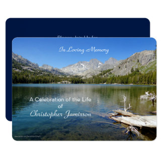 Celebration of Life Invitation, Lake Reflection 13 Cm X 18 Cm Invitation Card