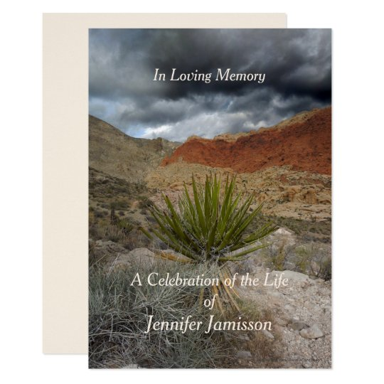 Celebration of Life Invitation, Mountain Storm Card
