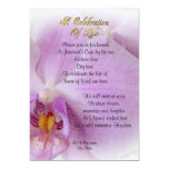 Celebration of life Invitation orchid