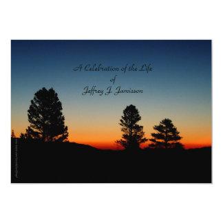 Celebration of Life Invitation, Sierra Sunrise 13 Cm X 18 Cm Invitation Card