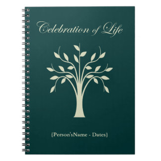 Celebration of Life Memorial Guest Register Notebooks