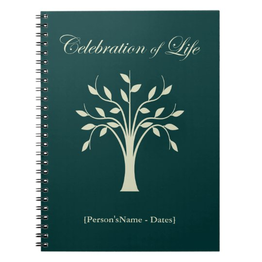 Celebration of Life Memorial Guest Register Spiral Note