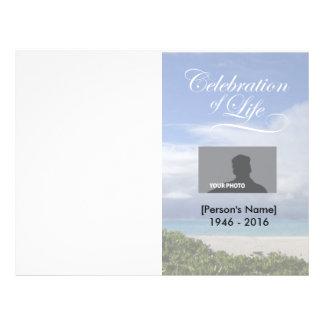 Celebration of Life Ocean Memorial Program 21.5 Cm X 28 Cm Flyer