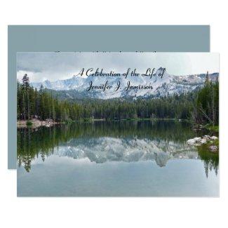 Celebration of Life Reflection Mountain Lake Invitation