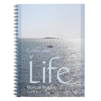 Celebration of Life Seascape 1 Photo GuestBook Notebook