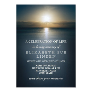 Celebration of Life | Sun Over the Ocean Card