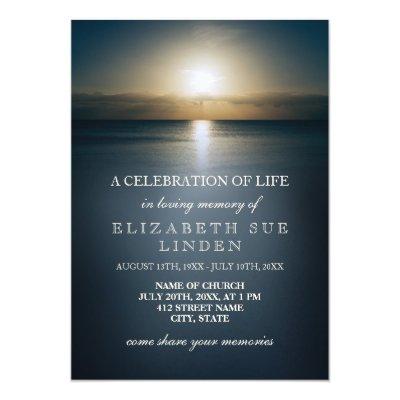 Celebration Of Life Invitation Zazzle Co Uk