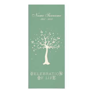 Celebration of Life with Photo | Elegant Tree 10 Cm X 24 Cm Invitation Card