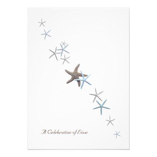 Celebration of Love, Starfish Wedding Invitations