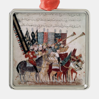 Celebration of the end of Ramadan Silver-Colored Square Decoration