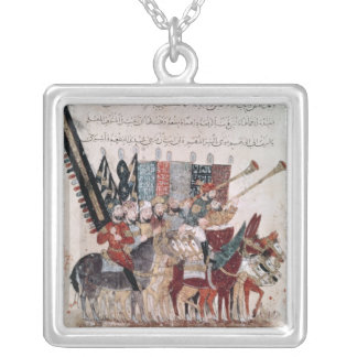 Celebration of the end of Ramadan Silver Plated Necklace