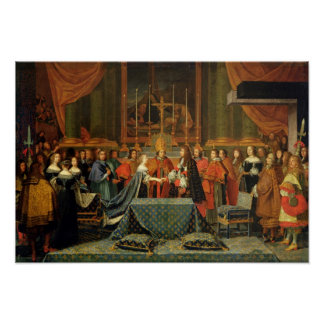 Celebration of the Marriage of Louis XIV Poster