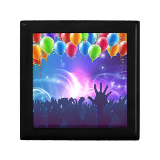 Celebration Party Balloons Background Small Square Gift Box