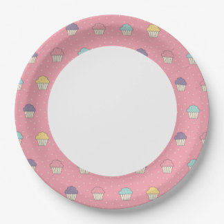 Celebration Party Frosted Cupcake Favorites 9 Inch Paper Plate