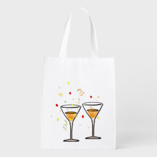 celebration party reusable grocery bag