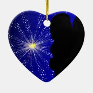 Celebration Silhgouette Kiss Ceramic Heart Decoration