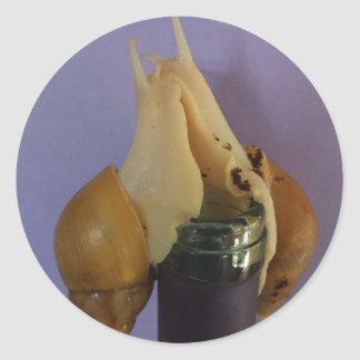 Celebration Snails Classic Round Sticker