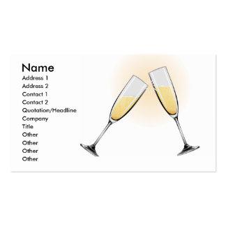 Celebration Toast Champagne Glasses Business Card