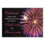 Celebration Wedding Pink Personalised Invites