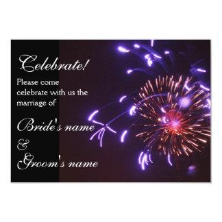 Celebration Wedding purple 13 Cm X 18 Cm Invitation Card