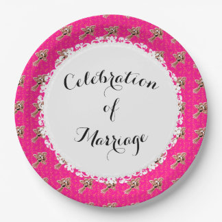 Celebration_Wedding-Silver-Roses-Pink(c) TEMPLATE 9 Inch Paper Plate