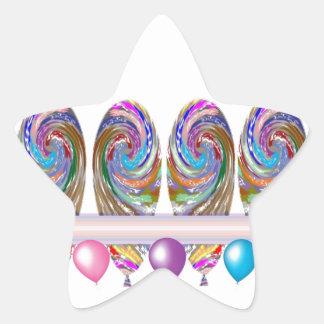 Celebrations -  Balloons Star Sticker