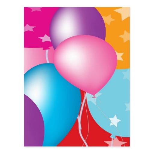 Celebrations Celeberations Baloons Post Card