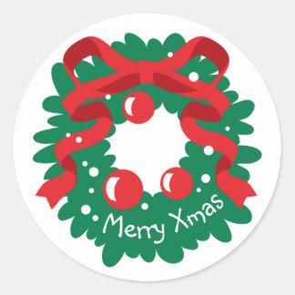 Celebrations Street - Christmas Round Sticker