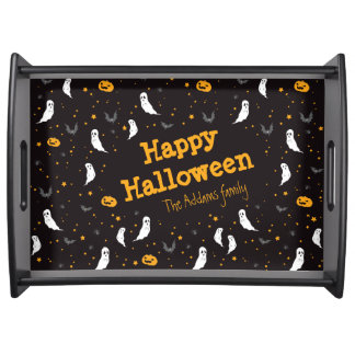Celebrations Street - Halloween (black) Serving Tray