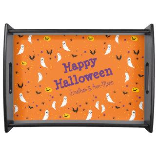 Celebrations Street - Halloween (orange) Serving Tray