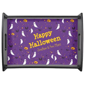 Celebrations Street - Halloween (purple) Serving Tray