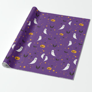 Celebrations Street - Halloween (purple) Wrapping Paper
