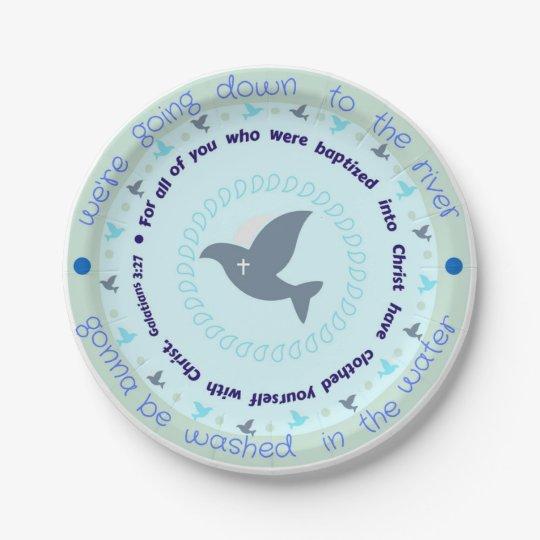 Celebratory Baptism 7 inch Paper Plates