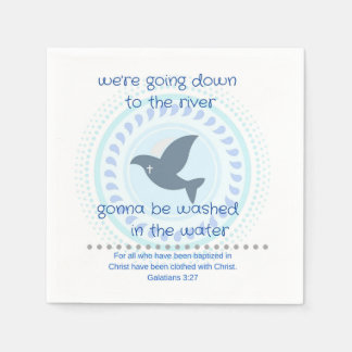 Celebratory Baptism Napkin Disposable Serviette
