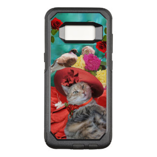 CELEBRITY CAT PRINCESS TATUS, RED HAT WITH PIGEON OtterBox COMMUTER SAMSUNG GALAXY S8 CASE